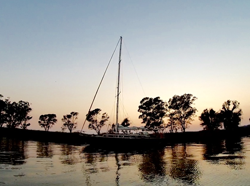Sailing and Anchoring at the Napa River