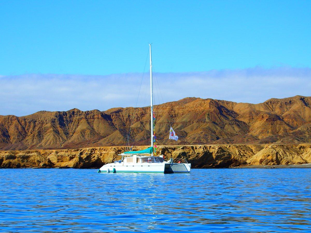 Turtle Bay anchoring with theBaja-Haha