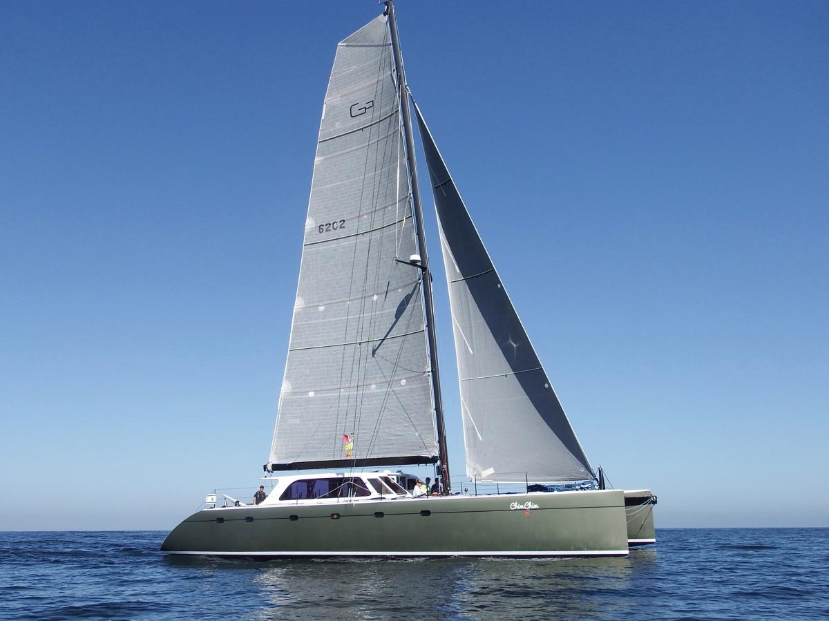 Gunboat CHIM CHIM crosses the finish line-> San Diego-Puerto Vallarta 2018race